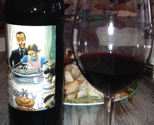 Behrens thanksgiving wine label