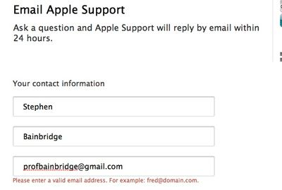 Apple support moron