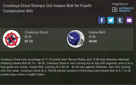 Cowboys drool week 9