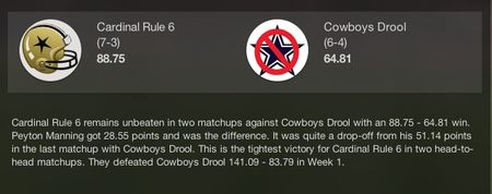 Cowboys drool week 10