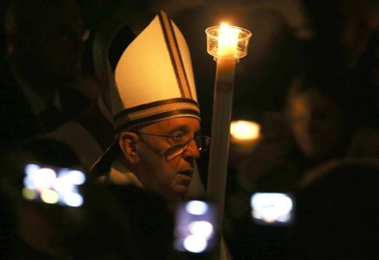 Pope francis easter vigil 2014