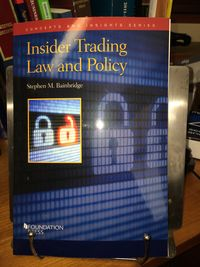 Bainbridge insider trading law and policy