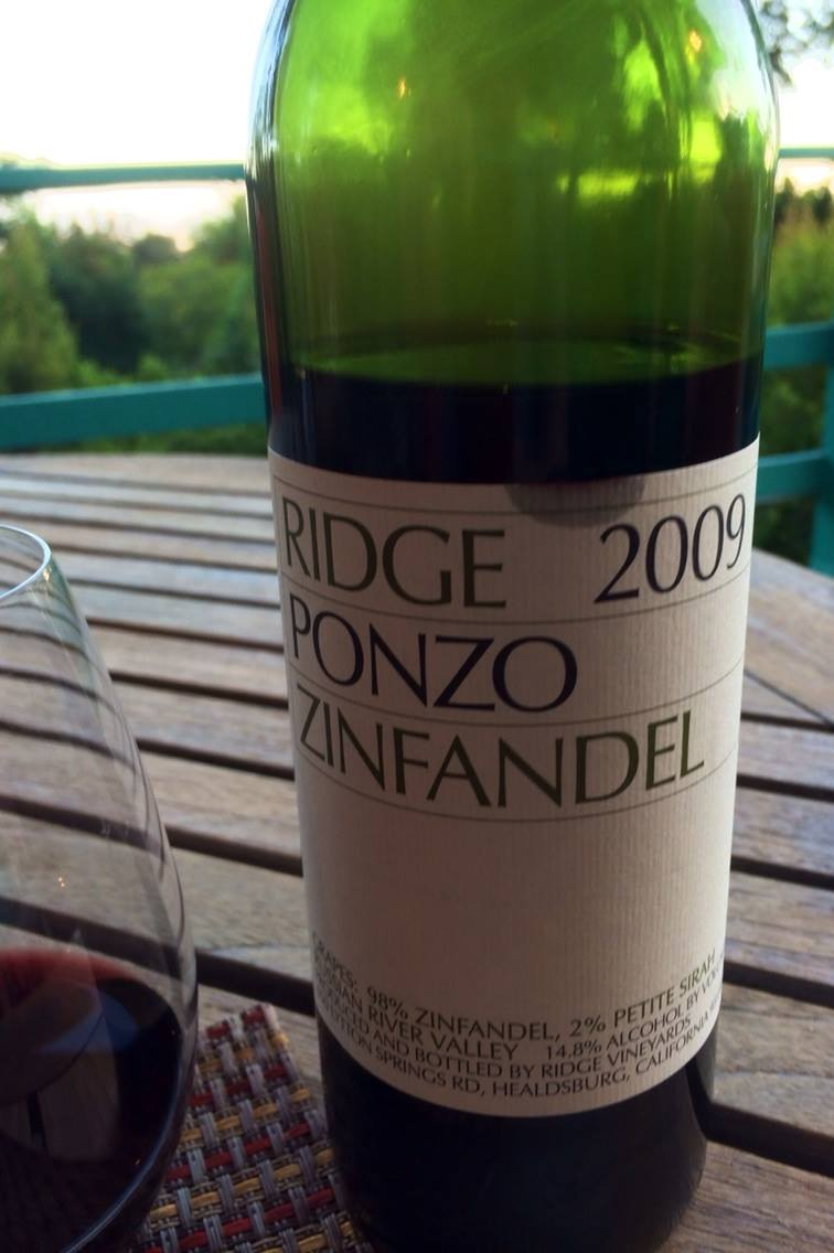 Ridge ponzo vineyard zinfandel 2009