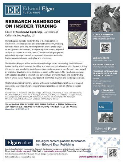Bainbridge Handbook Trading