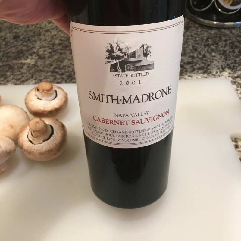 Smith Madrone 2001 cabernet