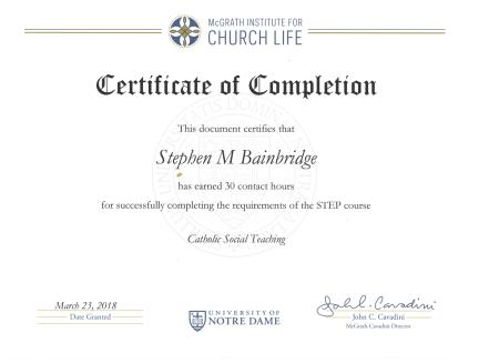 Bainbridge Catholic Social Thought 2