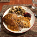 Thanksgiving duck dinner