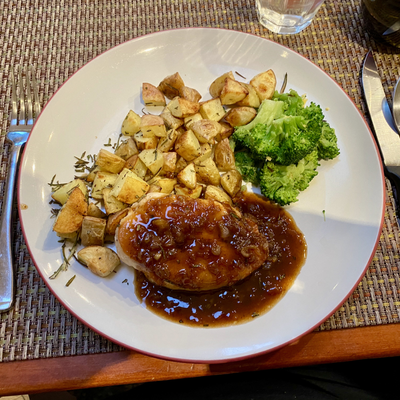 Chicken with balsamic fig sauce